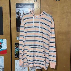 Zine Rafi stripe lightweight pullover hoodie